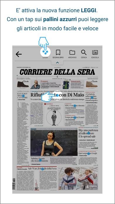 Corriere della Sera Screenshot