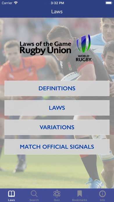Screenshot for World Rugby Laws of Rugby in Azerbaijan App Store
