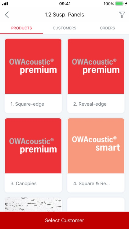 OWA Catalogue and Ordering App by OWA Ceilings
