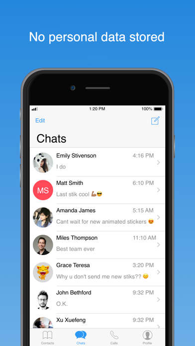 Unicam: P2P Messenger screenshot one