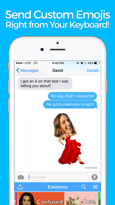 YourMoji - Custom Emojis, GIFs screenshot one