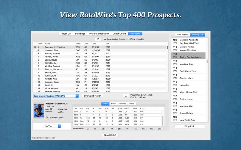 Fantasy Baseball Draft Kit '19 Screenshot