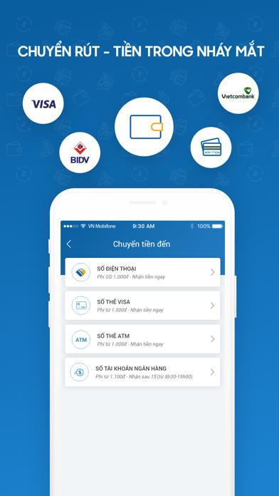 VIMO ví điện tử chuyển tiền screenshot two