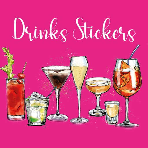 Cocktails and Drinks Stickers