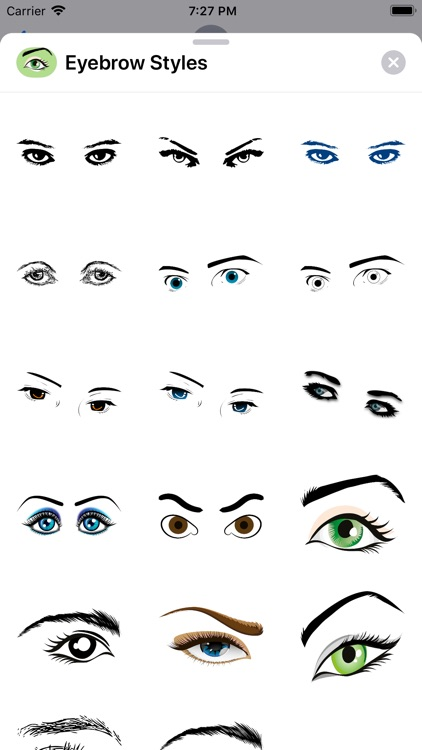 Shapely Eyebrow Stickers
