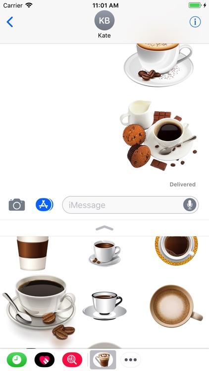 Coffee Sticker screenshot-4