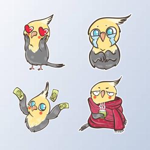ParrotMoji - Parrot Stickers