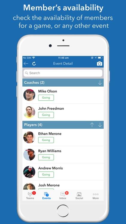 InstaTeam sports team manager screenshot-3