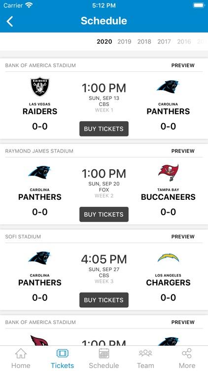 Carolina Panthers Mobile screenshot-3
