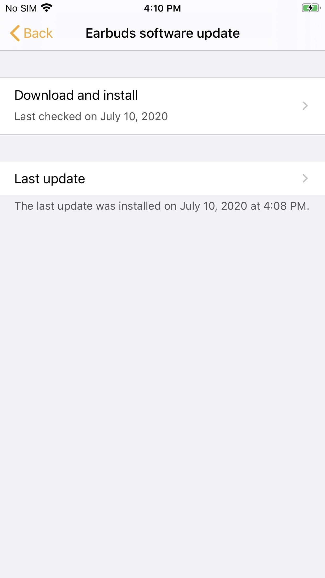 Screenshot do app Samsung Galaxy Buds