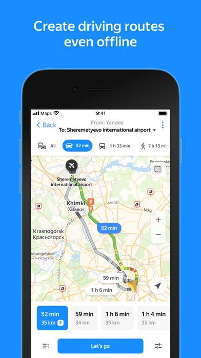Yandex.Maps Screenshot on iOS