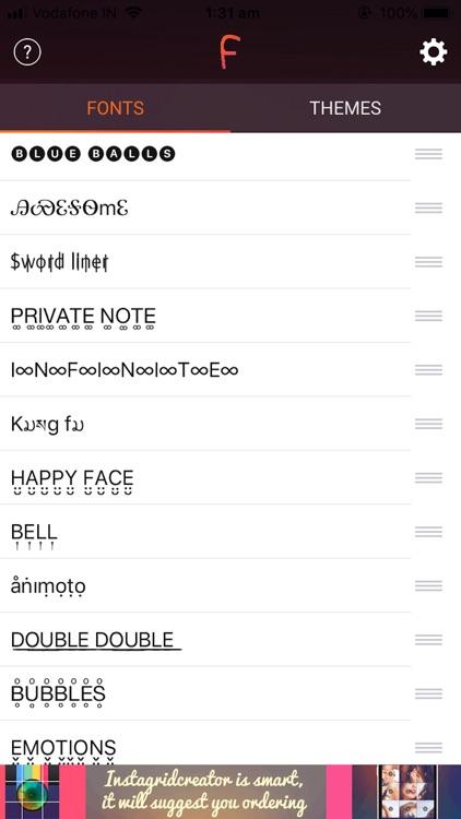 Cool Fonts & Keyboard Themes screenshot-6