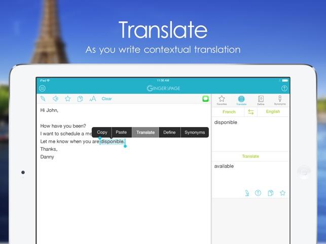 PAGE Englisch Grammatik Screenshot