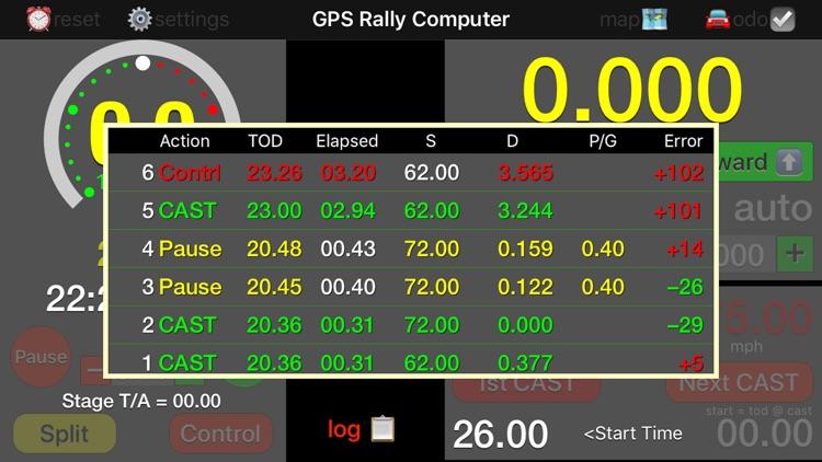 GPS Rally Computer screenshot-3