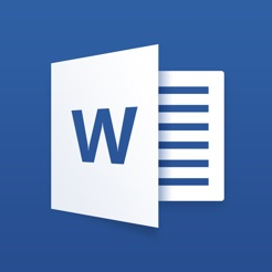 Microsoft word on the app store.