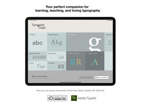 Typography Insight Screenshots