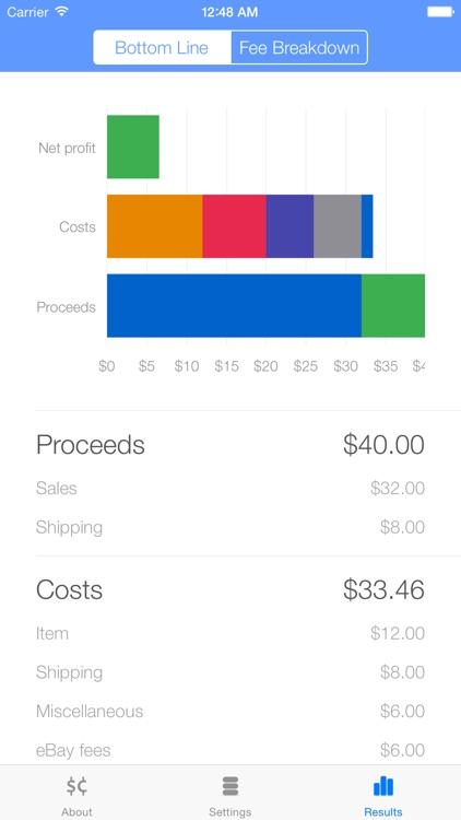 Salecalc for eBay Calculator screenshot-5