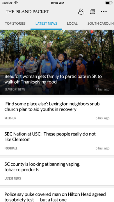 Island Packet News Screenshot