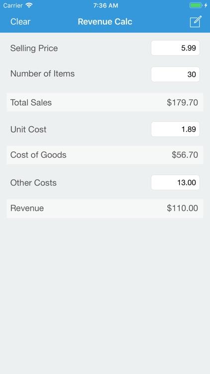 Revenue Calc