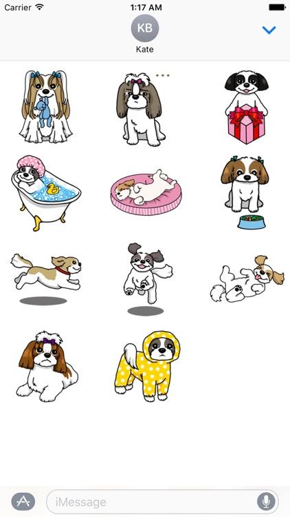Adorable Shih Tzu Dog Sticker