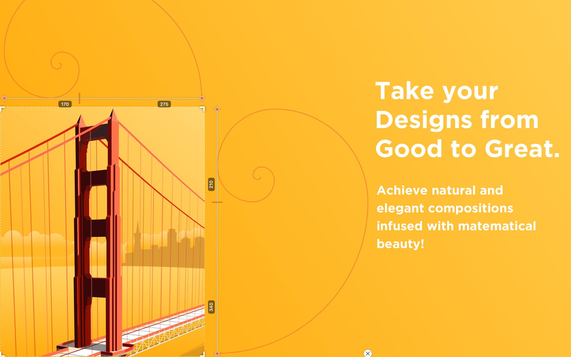 Goldie App Mac 破解版 强大的黄金比例设计工具-麦氪搜(iMacso.com)