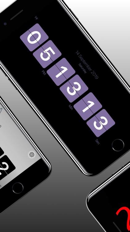 Flip Clock - Digital Clock screenshot-3