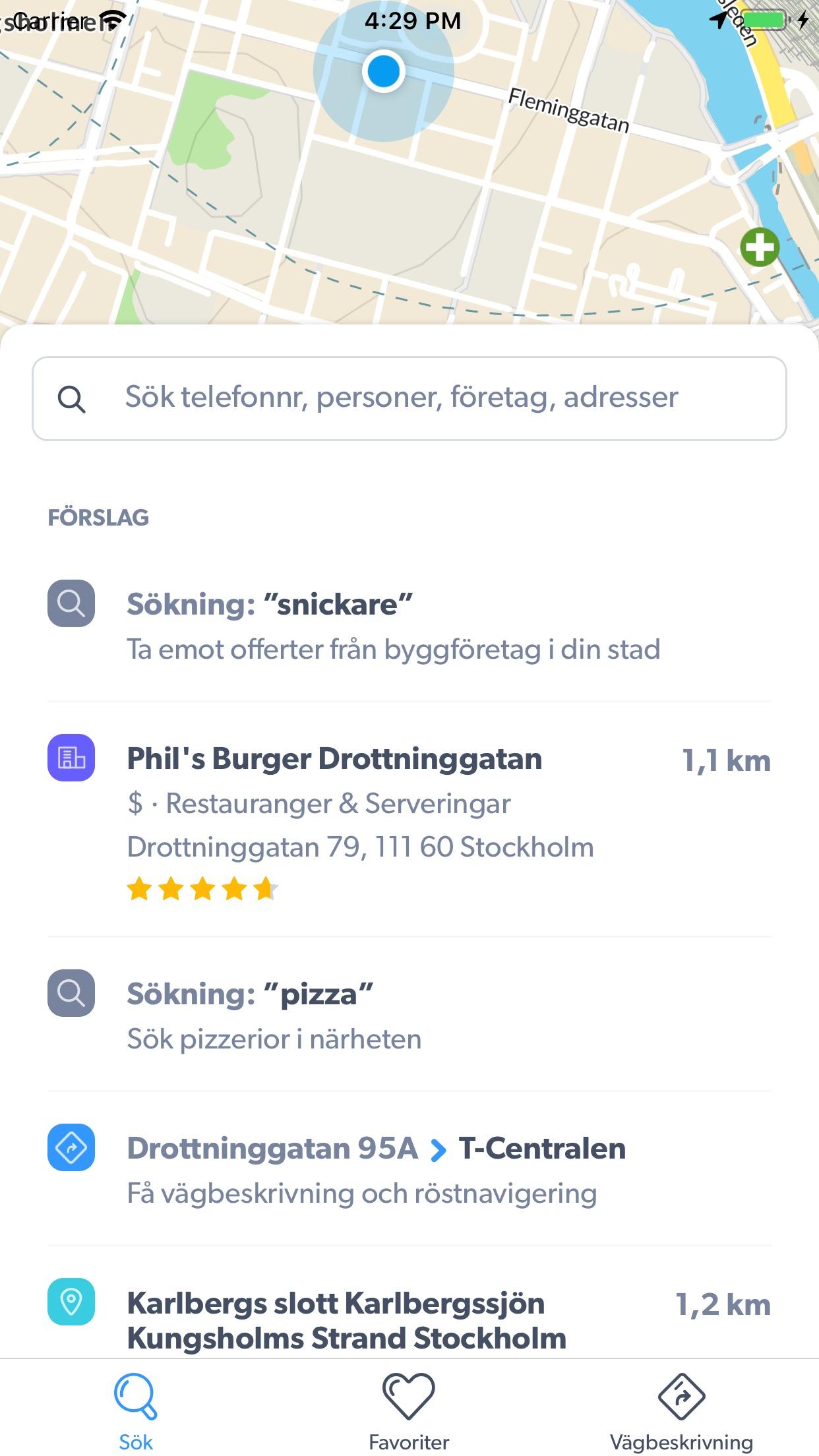 hitta.se Screenshot