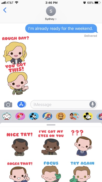 Captain Marvel Stickers app image