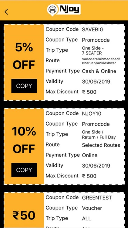 Njoy Cabs - Outstation Taxi screenshot-8