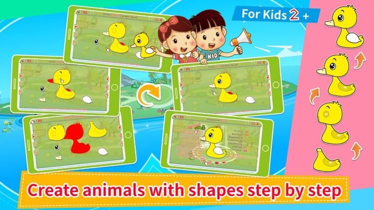 Animals' Color Shape Puzzle 2+ screenshot-0