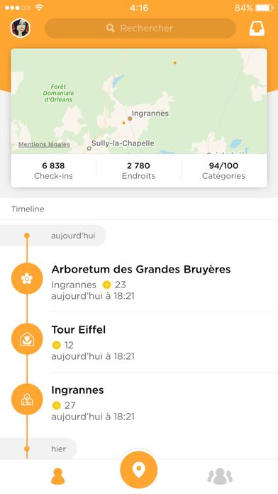 Screenshot #1 pour Foursquare Swarm: Check-in App