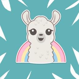 Llama Stickers & Emojis