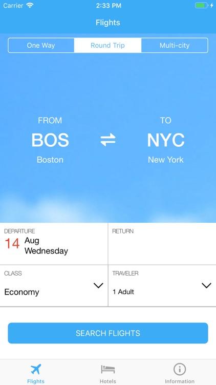 Flight tickets & Search hotel