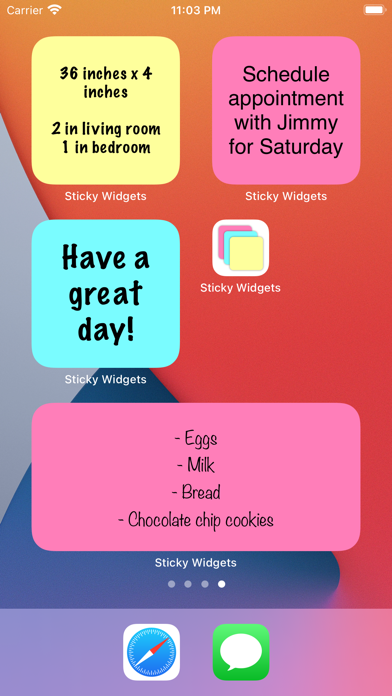 Sticky Widgets iPhone