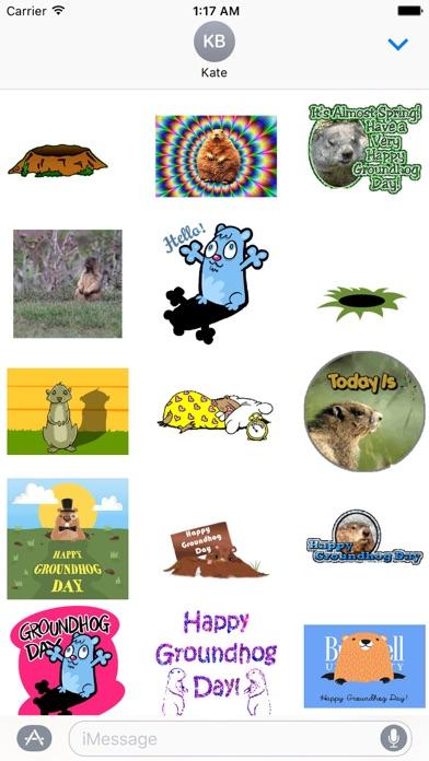 Animated Groundhog Day Sticker screenshot 1