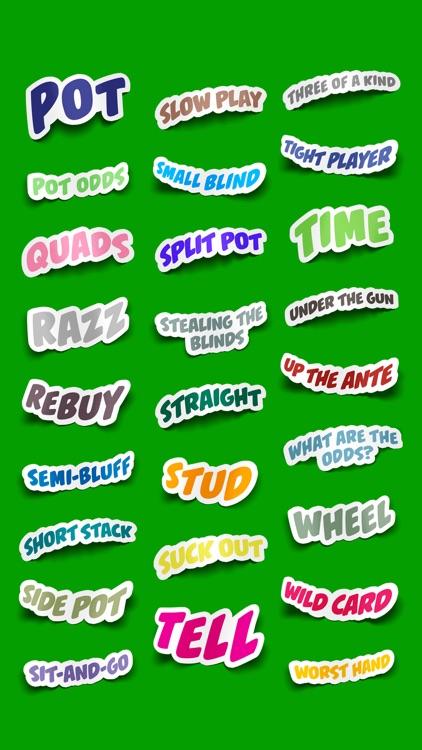 Poker Terms Sticker Pack screenshot-6