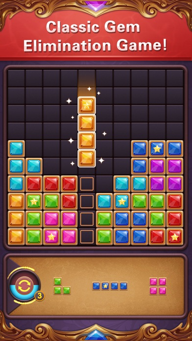 ブロックパズル:ダイヤモンドスターブラストのスクリーンショット1