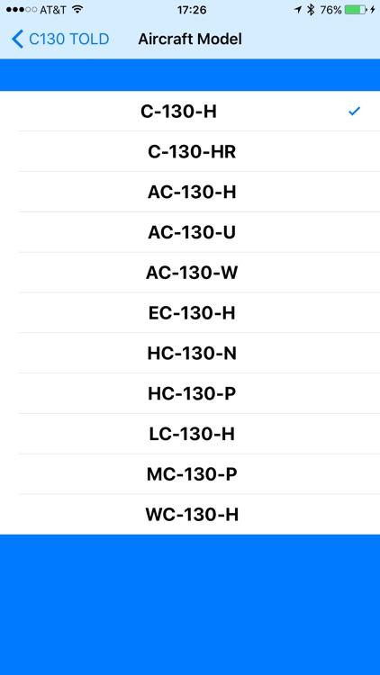 C130 TOLD Calculator: T56-A-15 screenshot-3
