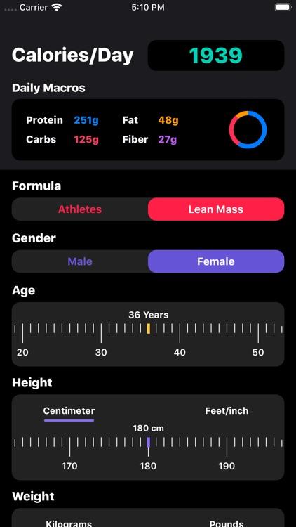 IIFYM Macro/Calorie Calculator
