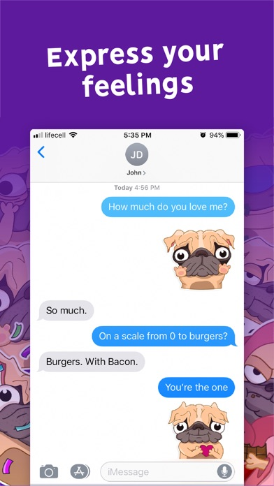 Screenshot for Pugly the Dog Emoji Stickers in United States App Store