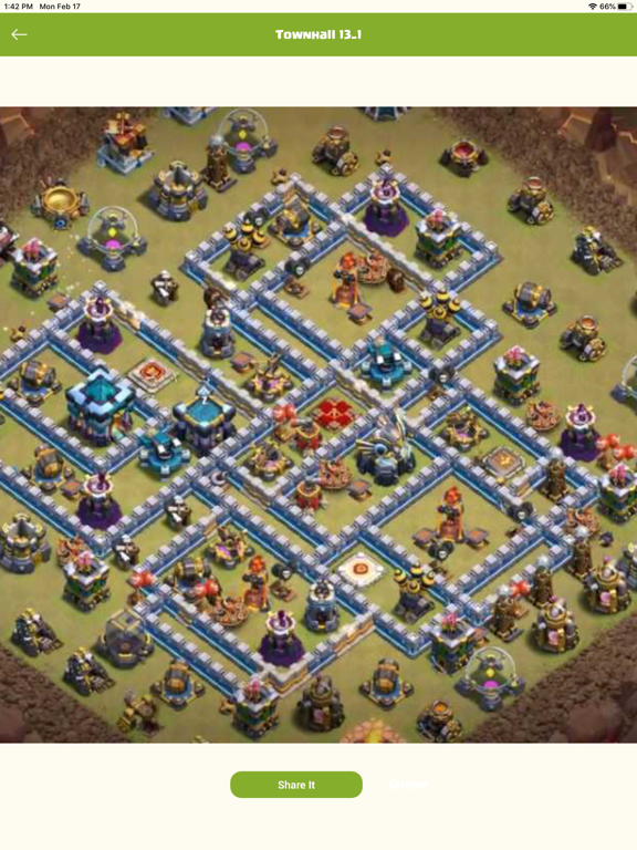 Map Layout for Clash of Clans screenshot