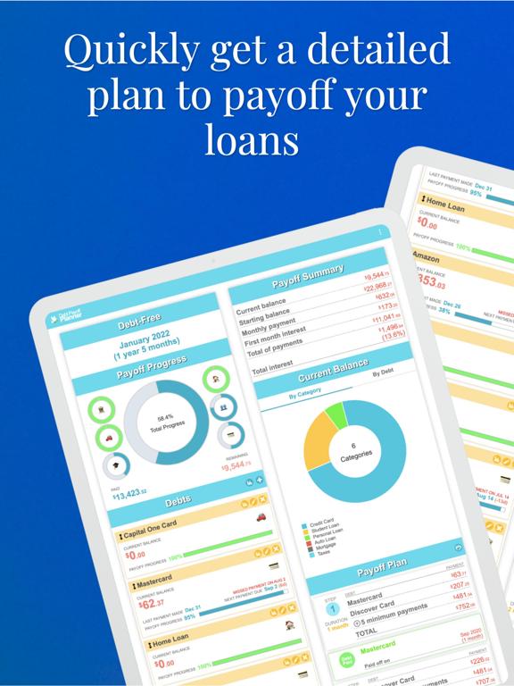 Debt Payoff Planner and Calculator screenshot