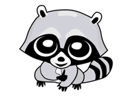 Raccoon Cute Funny Stickers