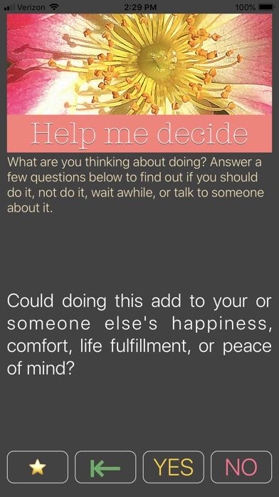 Help Me 2 Decide screenshot one