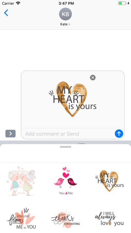 Cute Love Text Stickers Pack screenshot-7