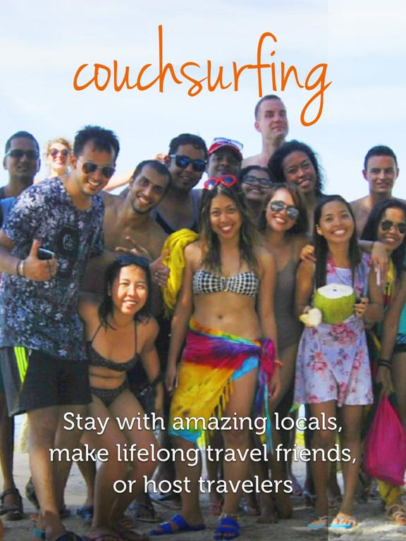 Couchsurfing Travel App iPad app afbeelding 5