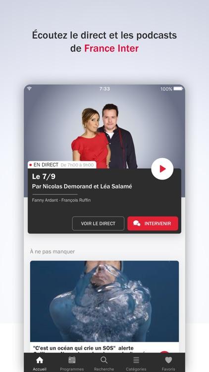 France Inter - radio, podcasts screenshot-0