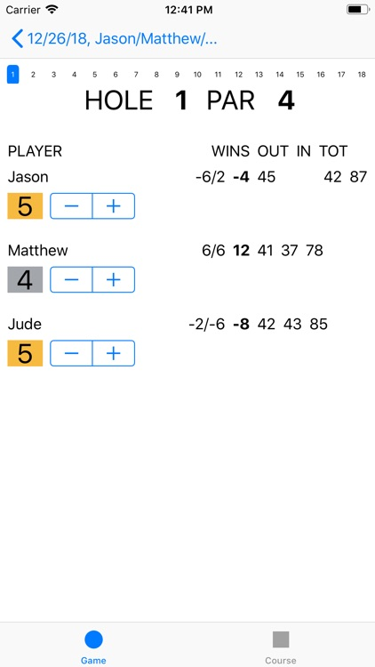 Joe's Scorecard screenshot-2