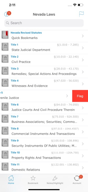 Nevada Revised Statutes >> Nv Laws Nevada State Titles On The App Store