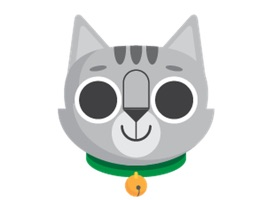 Gray Cat Bun Sticker